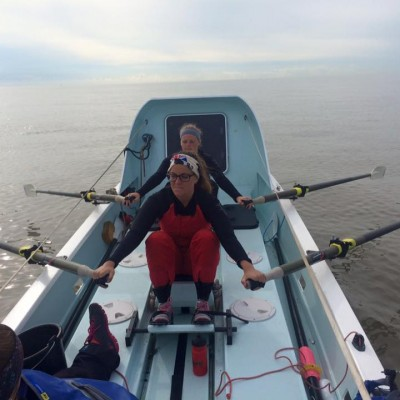 rowing on ocean