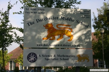 Dorchester School sign