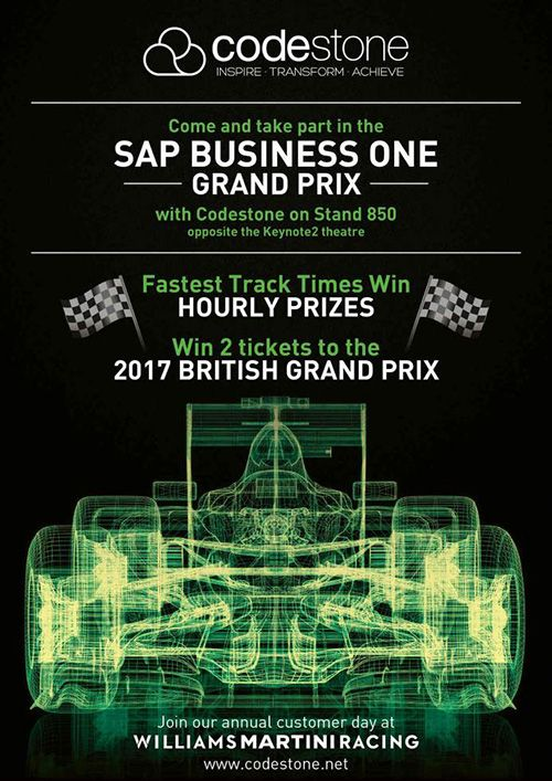 Win prizes with Codestone in the SAP Business One Grand Prix