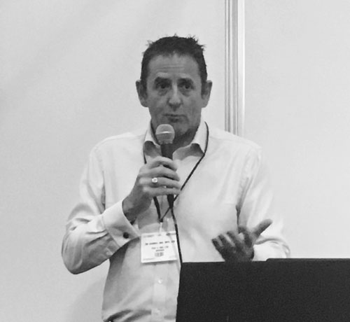 Tim Marshall from Pay4 speaking at the Business Show 2016