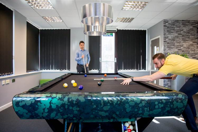 Inside Codestone games room