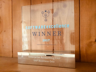 Software Excellence Winner - SAP Business One