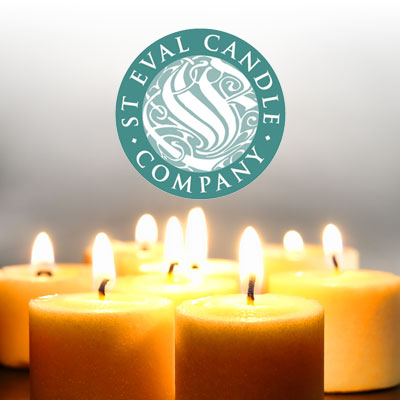 st eval candles logo