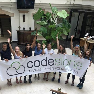 team like a girl with Codestone banner
