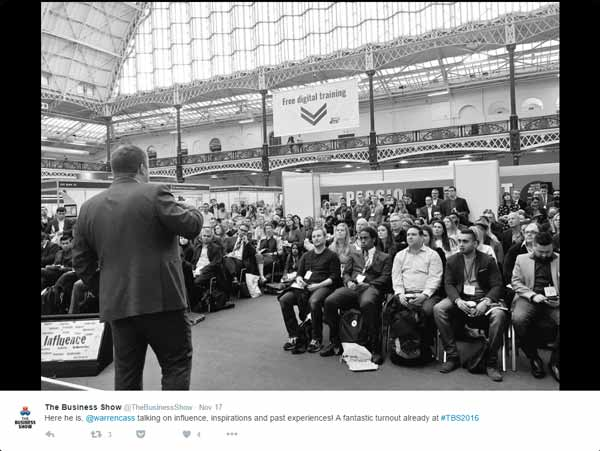 Warren Cass speaking at The Business Show 2016